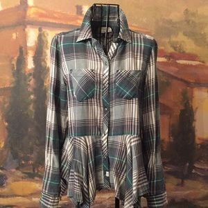 Melrose and Market Plaid Button Down Shirt